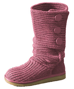Pink weave boots