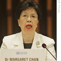 WHO Director-General Margaret Chan speaks during a press conference at WHO headquarters in Geneva, Switzerland, 11 Jun 2009
