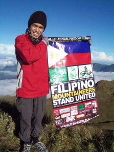 Ryan on the summit of Mount Pulag