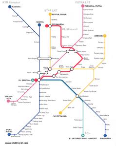 Kuala Lumpur LRT map